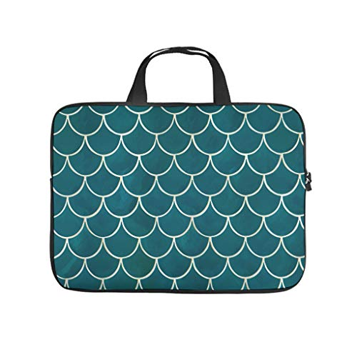 Fish Scale Dragon Scale Pattern Laptop Bag Waterproof Laptop Case Colourful Notebook Bag for University Work Business