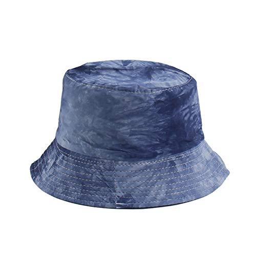 Kinkei Batik-Tinte Malerei Muster Fischerhut Männer und Frauen Tide Street Hut Sommer Schatten Sonnenhut kreative Mode, 0, blau