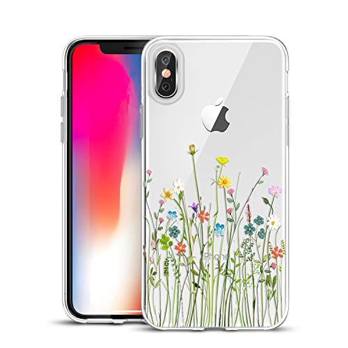 Unov - Carcasa de TPU para iPhone XS (2018), iPhone X (2017), diseño transparente
