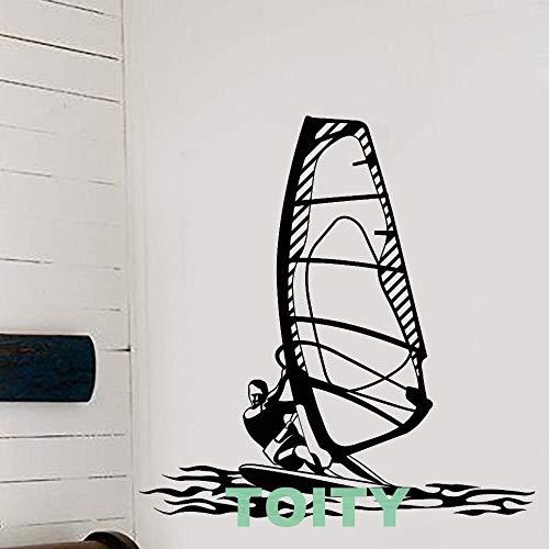 Pegatina Promotion Windsurfer mit Wunschname personalisierbar Windsurfing 50 cm Aufkleber Sticker Autoaufkleber Wandtattoo Surf Kite Surfen Wassersport Fun Sea