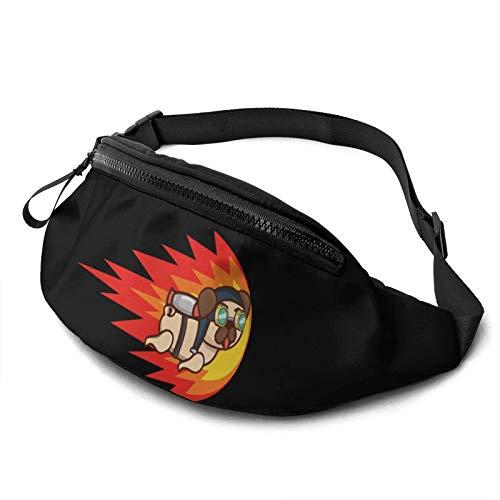 DJNGN Jetpack Pug Fanny Pack Fashion Waist Bag