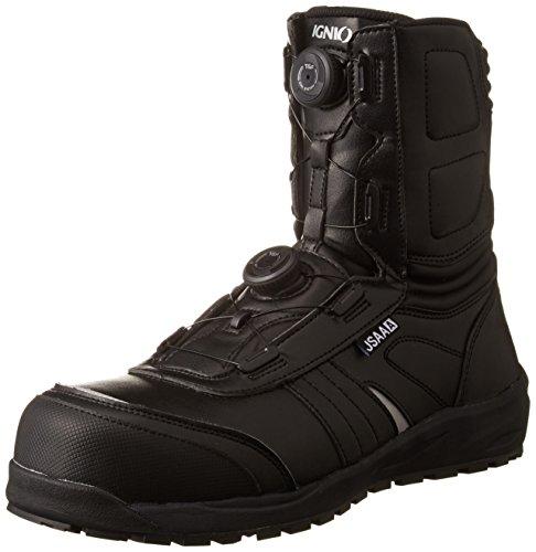 [イグニオ] セーフティシューズ(安全靴) JSAA A種認定 耐滑ソール ブーツタイプ TGFダイヤル式 IGS1067TGF ブラック 27 cm 3.5E