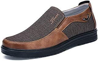 الأحذية الكاجوال Low-cut Business Casual Soft Soles Flat Shoes for Men, Shoe Size:49(Black) الأحذية الكاجوال
