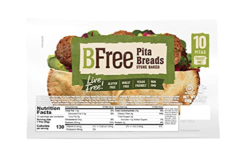 BFree Gluten Free Pita Bread, 10 Count (19.4 Ounce Total)