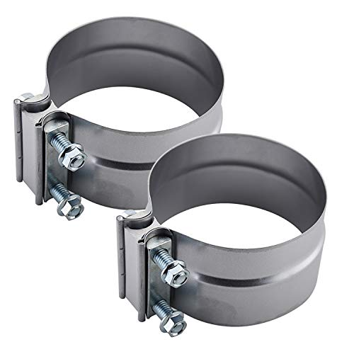 Roadformer 5' Lap Joint Exhaust Band Clamp - Aluminized Steel for 5 inch OD to ID exhaust pipes, muffler ends and exhaust system connection with leakage free (2 Pack)