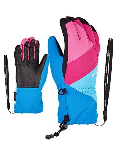 Ziener Kinder Agil As(r) Ski-Handschuhe/Wintersport   Wasserdicht, Atmungsaktiv, French Blue.Aqua, 7,5