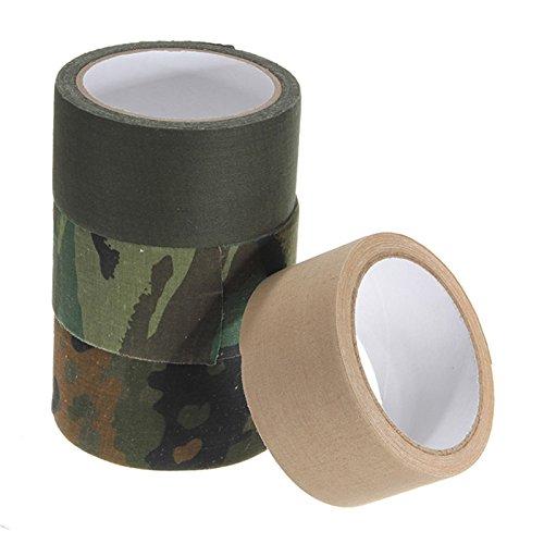 Neuf 50 mm x 10 m extérieur Sports Pêche Camouflage Tissu Coton Isolation renforcée Ruban adhésif Outil de Rouleau de Papier