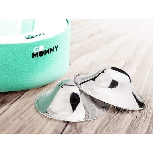 GoMommy Silver 925 Nursing Cups - for Breastfeeding Mothers
