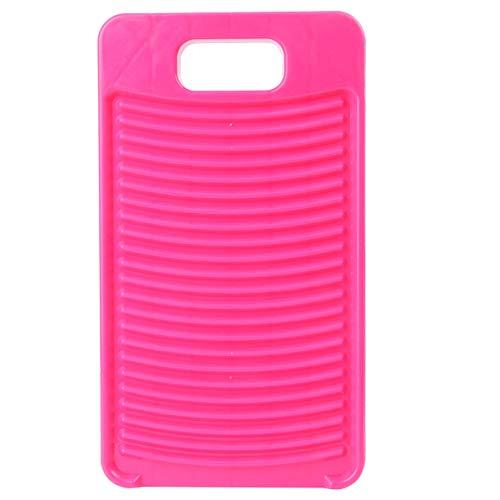 Topbathy - Tabla de plástico para lavar a mano, antideslizante (rojo rosa)