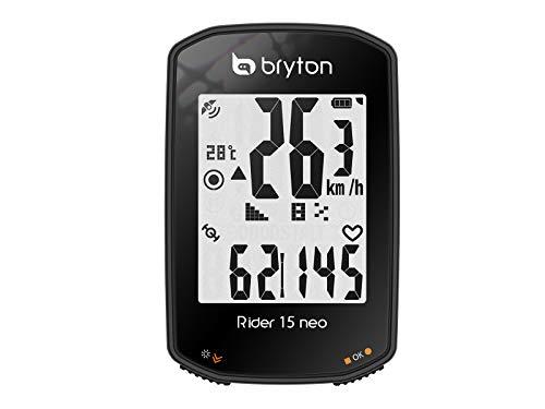 Bryton Rider 15 Neo E, Ciclo Computer GPS, Display da 2', Nero