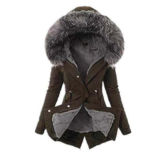 OKJI Vrouwen Casual Faux Bont Hooded Parka Outwear Jas Fleece Dikke Warm Winterjas Jas Zwart Big Plus Size 3XL Down Jassen Vrouwelijke