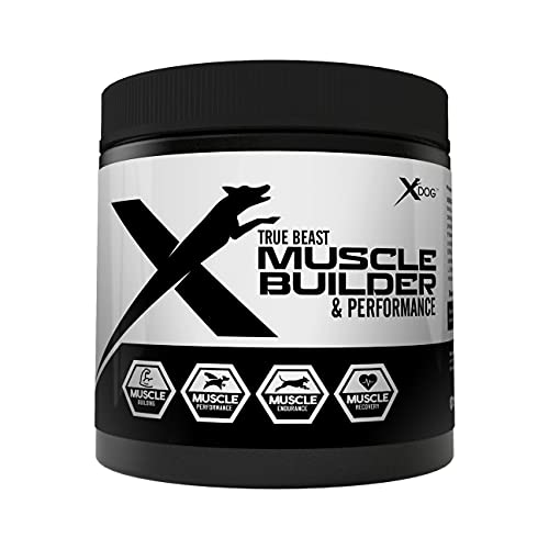 MVP K9 Supplements Muscle Builder & Performance for Dogs - Supports Muscle Endurance, Performance and Recovery. Now Contains Bone Broth Superfood Protein