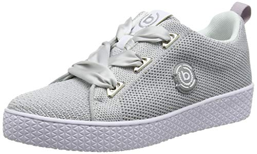 bugatti Damen 431525116959 Sneaker, Mehrfarbig (Light Grey/Silver 1213), 38 EU