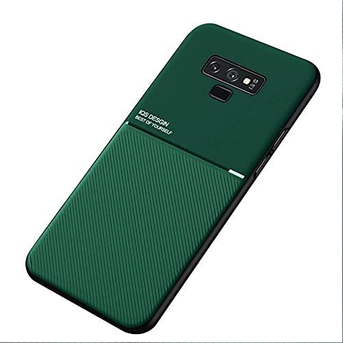 Kepuch Mowen Funda Case Carcasa Placa de Metal Incorporada para Samsung Galaxy Note 9 - Verde