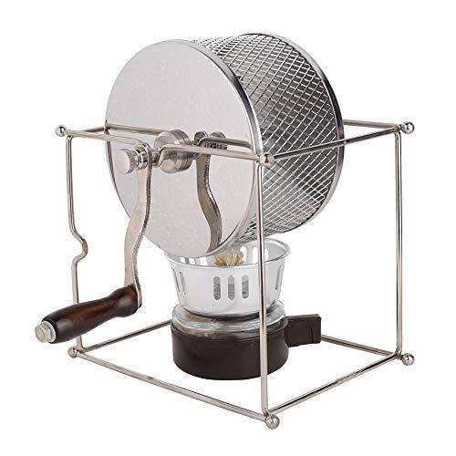 Mini manueller Kaffeeröster, manuelle Kaffeebohnen Röstmaschine DIY Edelstahlwalzen mit Griff, Kaffee Barista Werkzeuge