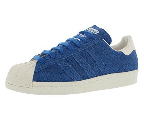 adidas Women's Superstar 80s W Originals Basketball Shoe (9.5 B(M) US, surf Blue/surf Blue/Chalk White)