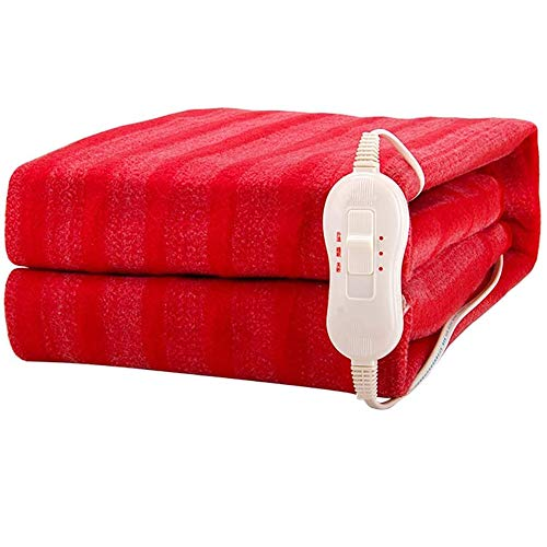 RONGXUE Blanket Electric Blanket Overheat Protection Single Control 3 Heat Settings 150 * 70cm Heated Underblanket Soft Mattress Cover