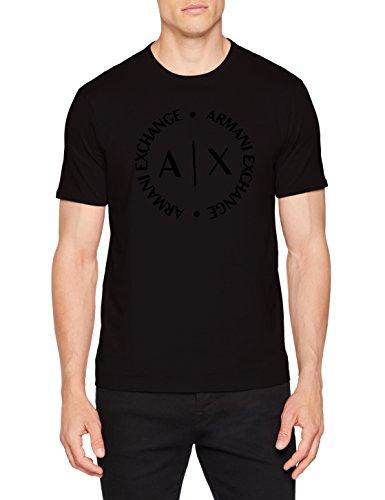 A|X Armani Exchange – Camiseta de Manga Corta para Hombre, Negro, X-Small