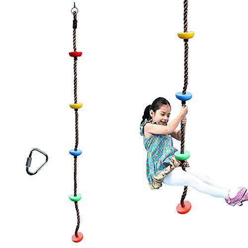 Cuerda de escalada de 2 m con plataformas para escalar, columpio colgante, cuerda ninja, accesorios