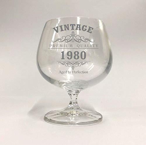 Copa de brandy vintage de 1980 para 40 cumpleaños