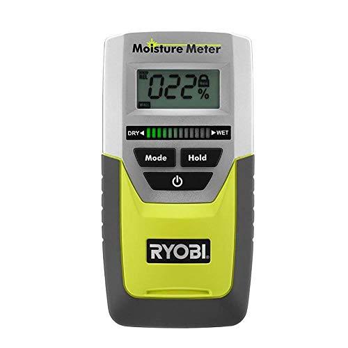 Ryobi E49MM01 Digital LED Pinless Moisture Meter for Softwood,...