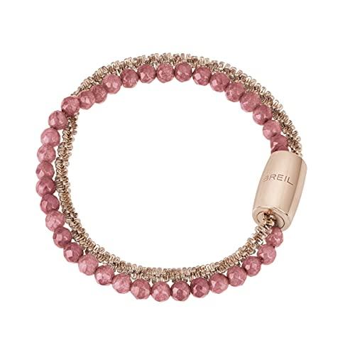 Joya Breil colección Magnética System, pulsera de mujer de acero de color rosa dorado, medida 19 cm con ágata - TJ3015