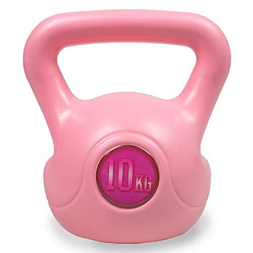 Phoenix Fitness RY1424 - Pesa rusa de vinilo para entrenamiento de fuerza y cardio, color rosa, 10 kg