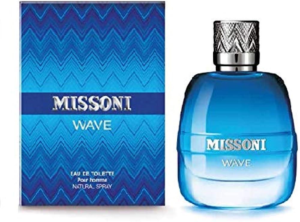 Missoni wave eau de toilette natural per uomo, spray ,30 ml