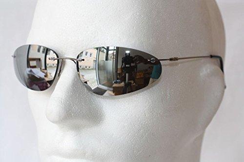 Emeco Matrix Style Neo Sonnenbrille Brille Silber Verspiegelt 9001sil