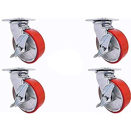 """2 Pack X 6/"""" SOLID Castor TROLLEY WHEEL 12MM ROLLER BEARING METAL CENTRE 6X1.5"""
