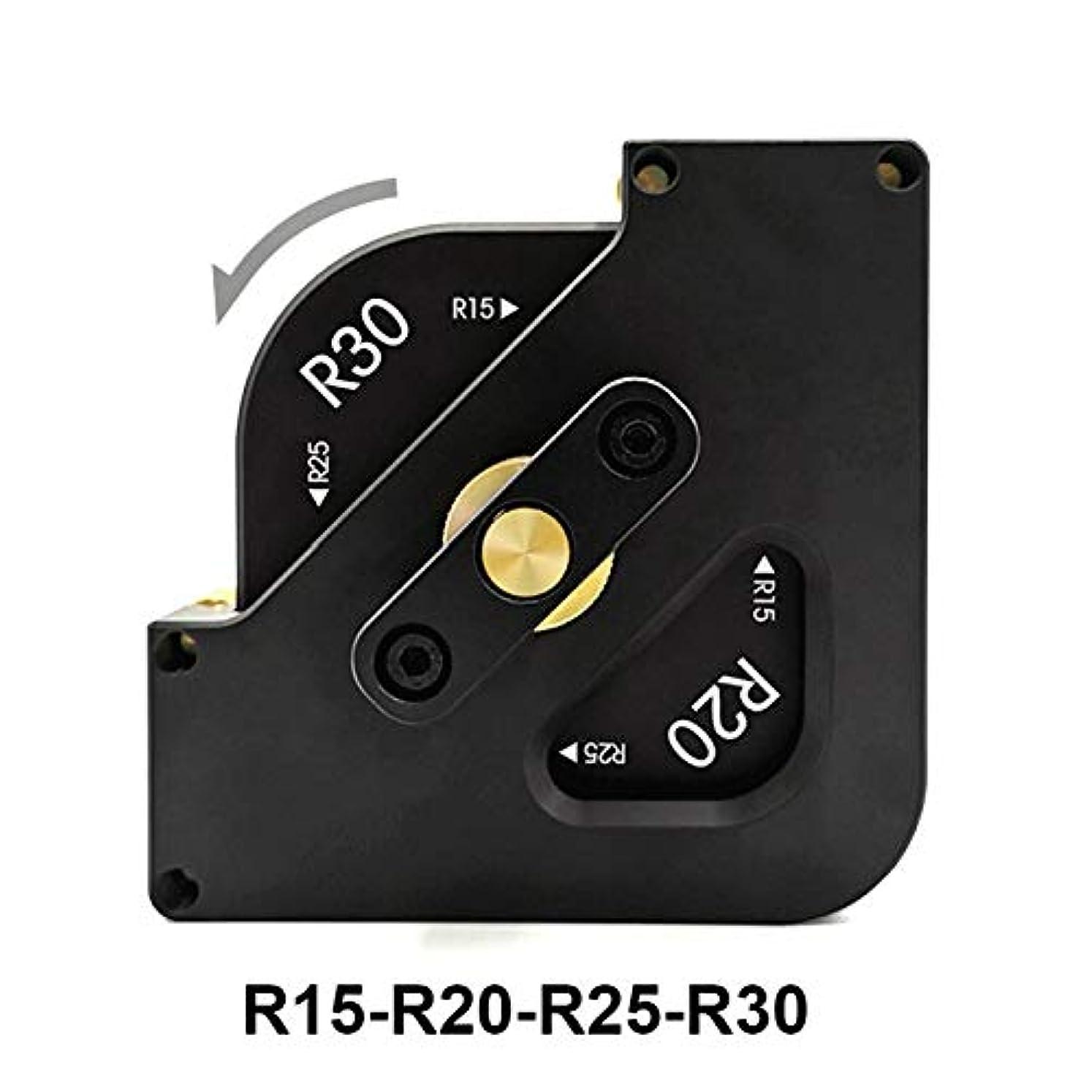 罰する判決剣1アルミニウム合金ルータ表ビットジグコーナーテンプレートキットで4 (Size : 1 Set R)