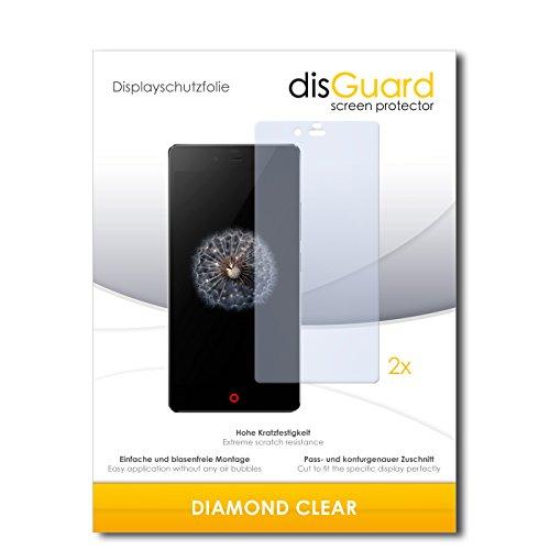 disGuard 2 x Bildschirmschutzfolie ZTE Nubia Z9 Mini Schutzfolie Folie DiamondClear unsichtbar