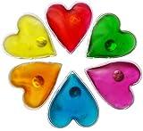 FILFIA Hand warmers 6 heart shaped pocket warmers for warm fingers in winter