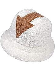 Appa-emmerhoed, visserspet van imitatiebont met pijlsymbool, uniseks warme lamswollen hoeden voor herfst en winter