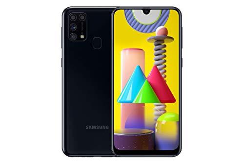 """Samsung Galaxy M31 - Smartphone Dual SIM, Pantalla de 6.4"""" sAMOLED FHD+, Cámara 64 MP, 6 GB RAM, 64 GB ROM Ampliables, Batería 6000 mAh, Android, Versión Española, Color Negro"""