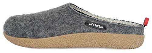 GIESSWEIN Hausschuh Vorbach - robuste Filzpantoffeln, Wechselbares Leder Fußbett, Hausschuhe aus Wolle mit Rutschfester Sohle, warme Pantoffel für Damen & Herren