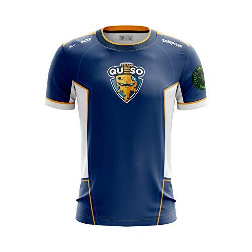 Team Queso Oficial 2019 Camiseta, Azul (Azul Azul), M para Hombre