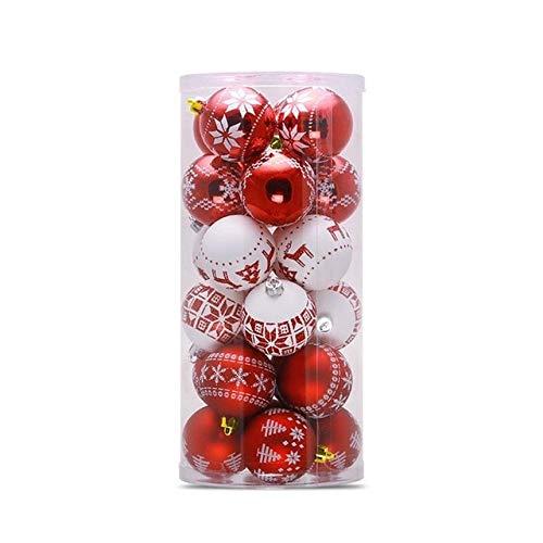 24 piezas decoraciones navideñas bolas adornos para árboles juguetes de decoración de...