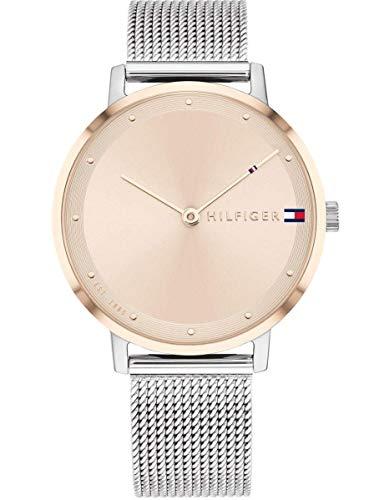 Tommy Hilfiger Reloj Analógico para Mujer de Cuarzo con Correa en Acero Inoxidable 1782151