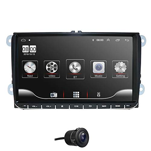 9 Zoll Touchscreen Auto Video Player Navigation GPS Android 10 Autoradio Bluetooth Fit für Volkswagen Skoda Passat Golf Sitz Spiegelverbindung WiFi DAB +