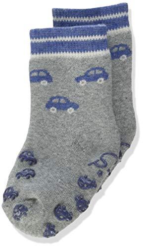 Sterntaler Baby-Jungen ABS-Krabbelsöckchen Autos Socks, Silber Mel, 20