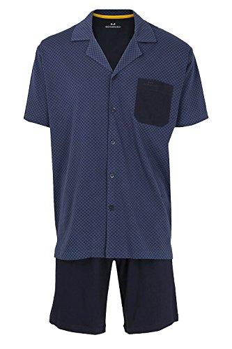 Götzburg Shorty Schlafanzug Oberteil durchgeknöpft 68/70 blau (635)