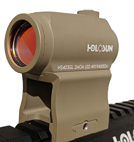 Find Cheap HOLOSUN OpticsPlanet Exclusive 403GL 1x 2 MOA Aluminum Micro Red Dot Sight,Flat Dark HS40...