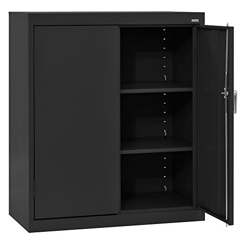 SANDUSKY LEE CA21361842-09 Classic Series Counter Height Cabinet with Adjustable Shelves, Steel, 42' Height, 36' Width, 18' Length, Black