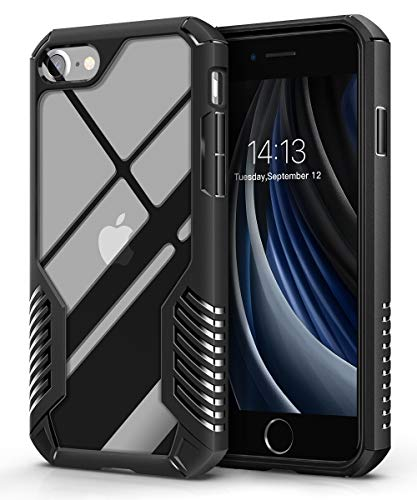 MOBOSI iPhone SE 2020 Case/iPhone 8 Case/iPhone 7 Case, Heavy Duty Military Grade Shockproof Drop Protection Cover for iPhone SE2/8/7 4.7 Inch 2020 (Matte Black)