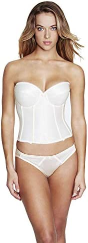 Dominique Satin Low Back Strapless Underwire Bustier Style 7750 Ivory 36C product image