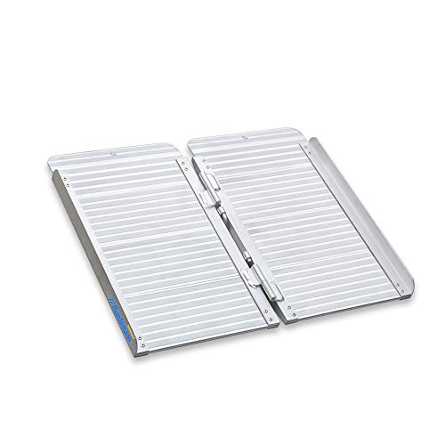 Ruedamann Threshold Ramp 2ft for Home Steps,Stairs,Doorways,Mobility Scooter, Folding Ramp for Wheelchair (MR607-2)