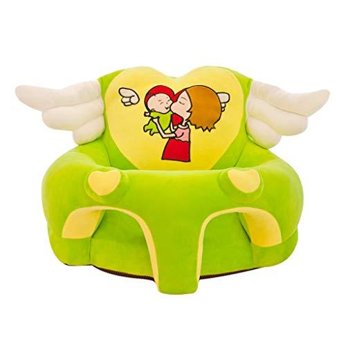 Fenteer Baby Sitzstuhl Bezug Sitzsack Hussen Überzug Überwurf Stretchbezug Stretchhussen - Grün