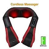 Massaggiatore Cervicale Misiki Massaggiatore Wireless per Schiena Elettrico Shiatsu...