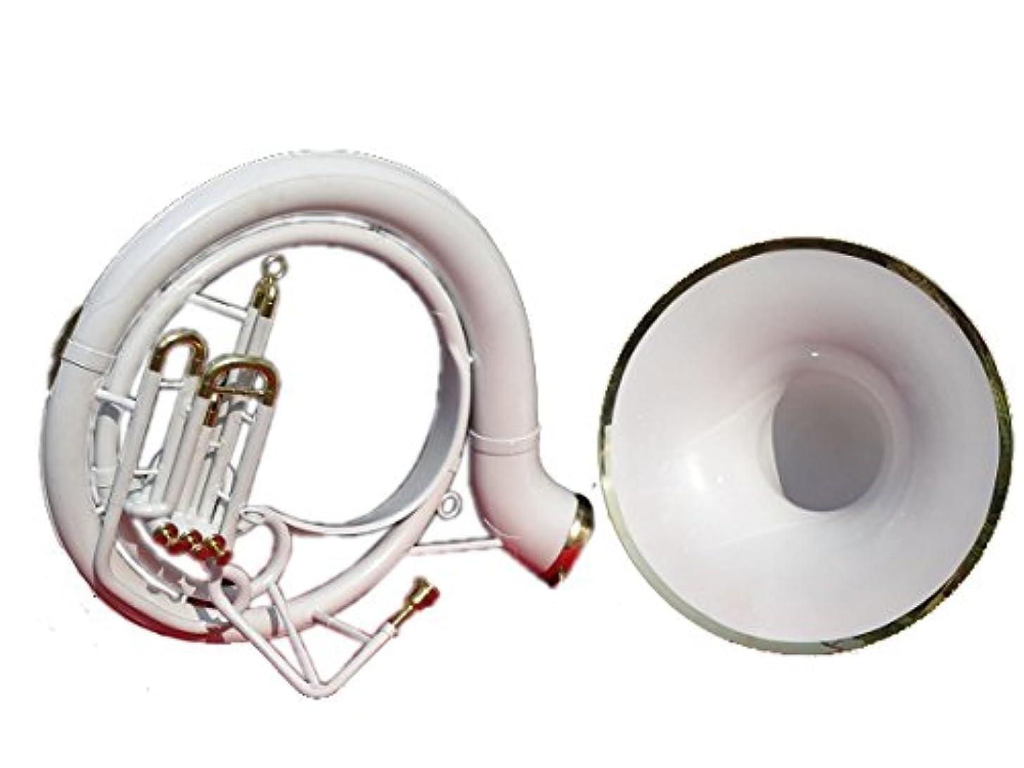 Queen Brass Sousaphone Tuba 25'' Bell_Bb Pitch W/Bag & Mp White